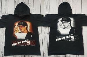 Vintage 2000 Eminem Marshall Mathers LP Spell Out Print Hoodie Size Large