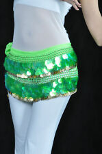 New Belly Dancing Belt Sequins & 220pcs Golden Coins Hip Scarf Belt 10colors