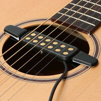Clip-on Pickup Acoustic Guitar Bass Pickup Audio12 Hole Transducer Amplifier@ YK