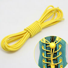 New Shoelaces Elastic Round Shoe Laces Trendy Sneakers Quick Locking Shoestrings
