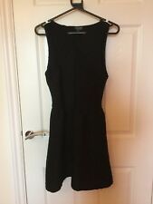 Topshop Textured Skater Little Black Dress Size 10 christmas NY Party. Worn once