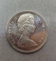 1966 Canada Silver Voyager Dollar Elizabeth II D.G. Regina