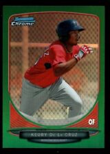KEURY DE LA CRUZ RED SOX ROOKIE GREEN REFRACTOR  2013 BOWMAN CHROME PROSPECTS B6