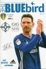 CARDIFF CITY V LEEDS UNITED OFFICIAL MATCH PROGRAMME 21/06/20