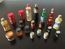 Re-Ment Megahouse LOT Jam, pbj, sauce bottles,1:6 Barbie size kitchen food minis