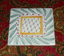 Hard to Find Mackenzie Childs Brighton Pavillon Hand Painted Square Tile 1998