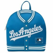 Los Angeles Dodgers Loungefly Faux Leather logo jacket Mini Backpack New w/ tags
