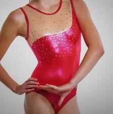 Alpha Factor Sequin Delaney Training ASM Gymnastics Foil Leotard