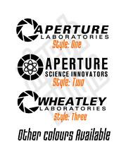 Aperture Labs Laboratories Portal vinyl sticker decal pc case (Window optional)