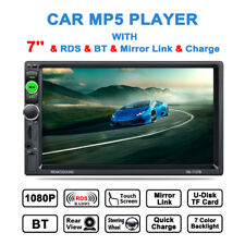 """7"""" 2 Din Car MP5 Player BT Full HD LCD Stereo Radio Touch Screen Remote Control"""