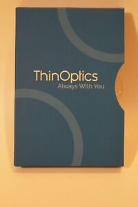 ThinOptics Reading Glasses & Keyring Case Black Readers +2.5