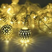 Ramadan Eid Decorations Fairy Lights Islam Moroccan LED Party Hanging Lights