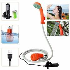 3.7V Portable Camping Shower Pump Outdoor Shower USB Charging Camp Shower Orange