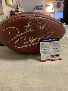 DAUNTE CULPEPPER AUTOGRAPHED SIGNED NFL LEATHER FOOTBALL PSA/DNA Z32279.
