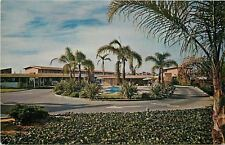 Chula Vista California~Vagabond Motor Hotel~Circle Drive~1960s Postcard
