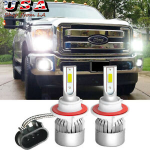 9008 H13 LED Headlight High Low Bulbs for Ford F-250 F-350 Super Duty 2005-2021