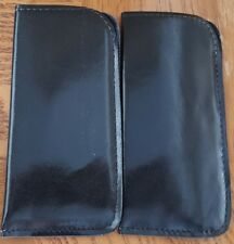 "Soft Sided Padded Vinyl Eyeglass Sunglass Case Black/Brown 6.5"" X 3.25"" Lot of 2"