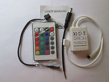 24 KEY IR REMOTE CONTROLLER FOR 5050 MULTICOLORED  RGB LED STRIPS