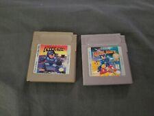 Megaman Wilys Revenge And 2 Gameboy Lot Cart