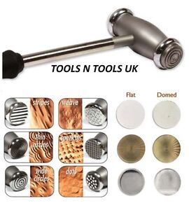 TEXTURING HAMMERS 12 FACES HEADS TEXTURE DESIGN PATTERNS JEWELLEY METAL REPOUSSE