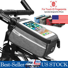 Waterproof Mountain Bike Frame Front Tube Bag Pannier Bicycle Phone Holder Pouch