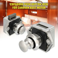 Push Button Drawer Cupboard Door Catch  Caravan Motorhome Durable Boat  !!