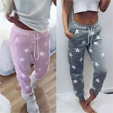 Womens Star Print Sports Gym Joggers Pants Bottoms Jogging Trousers Sweatpants