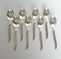 Vintage Leilani 1961  8 - Soup / Dessert Spoons 1847 Rogers Bros. Silver Plate