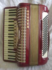 vintage HOHNER ATLANTIC III rot AKKORDEON mit KOFFER guter Zustand SAMMLER