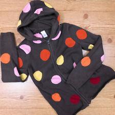 NWT Gymboree Tea for Two Coral Cotton Knit Hoodie with Polka Dot Trim Sz XS 3-4