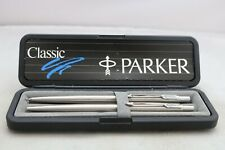 More details for vintage (1998) parker classic flighter ballpoint & mechanical pencil, cased