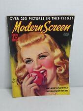 Modern Screen Magazine - April 1938 - Ginger Rogers cover