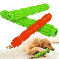 Pet Dog Toothbrush Chew Toy Soft Rubber Teeth Cleaning Massage Interactive -UK