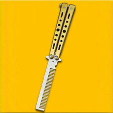Stainless-Steel Butterfly Balisong Comb Trainer Training Knife Dull Tool TB