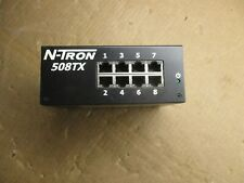 N-Tron 508Tx 8-Port Industrial Ethernet Switch Model#508Tx-A #6221003T Used