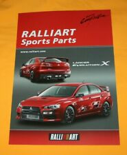 Mitsubishi Lancer Evolution X Sports Parts 2007 Japan Prospekt Brochure Catalog