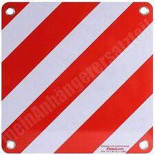 Aluminium Warntafel Italien 500x500mm rot weiß für Wohnmobil Caravan