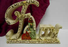 "Faith Nativity tabletop sign by Roman 8"" by 6"""