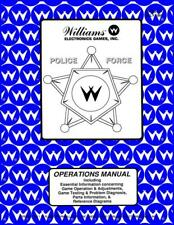 Police Force Pinball Machine Operation/Service/Repair Manual Williams Pps 10B/Wc
