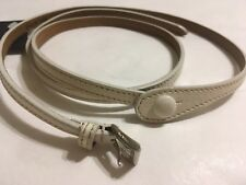 PRADA beige leather women's belt Size 95 cm