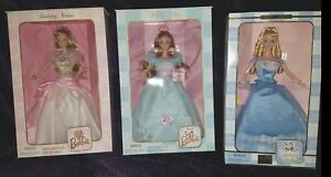 REDUCED $80 - 3 CollectorBarbieBirthday WishesSeries(1999, 2000, & 2001) NIB