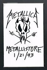 METALLICA Metallistore 1/21/93 ORIGINAL PROMO CASSETTE 3 Tracks LIVE IN RUSSIA