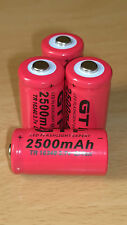 2x 16340 GTF 2500 mAh 3.7 V Rechargeable Protected High QualityLi-ion BARGAIN