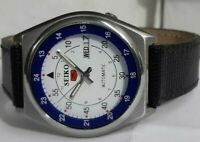 RAILWAY TIME SEIKO 5 DAY&DATE AUTOMATIC WHITE COLOR DIAL JAPAN MADE MAN'S WATCH.