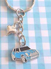 CUTE ENAMEL BLUE BMW MINI CAR KEYRING/Keychain/bag charm/gift