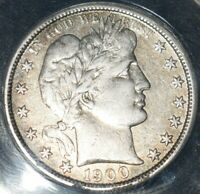 1900 S Barber Half Dollar AU Full Liberty, Eagle, And Details Looks HIGH GRADE!