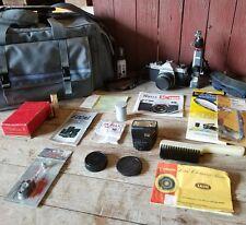 Asahi Pentax K1000 35mm camera SMC Pentax-M 1:2 50mm Lens SET LOTS OF EXTRAS