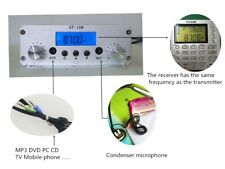 1.5W/15W stereo PLL FM transmitter broadcast 87-108MHz  Wireless audio only host
