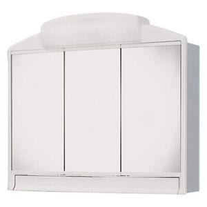 Spiegelschrank Badschrank Rano Badspiegel Badezimmer Spiegel 3-türig Licht+Dose