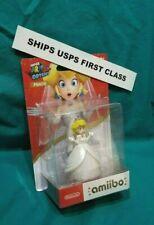 FIRST CLASS! Princess Peach Toadstool Amiibo Mario Odyssey Wedding Dress NEW!